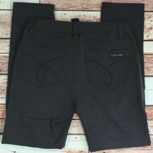 Calvin Klein Stretch Black Jeggings - Size 6